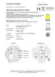technical information (PDF) - JW Elektronik OHG