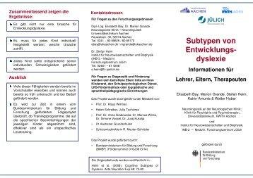 Subtypen von Entwicklungs- dyslexie - Legasthenie-Zentrum Berlin eV
