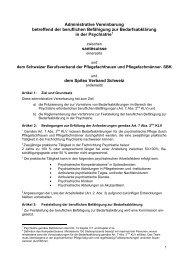 Administrative Vereinbarung - Schweizer Berufsverband der ...