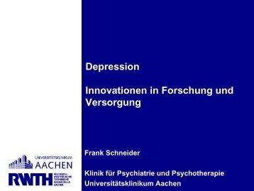 Integrierte Versorgung Seelische Gesundheit F3 Netz Depression ...