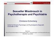 Sexueller Missbrauch in Psychotherapie und Psychiatrie
