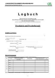 Logbuch Psychiatrie und Psychotherapie - Landesärztekammer ...