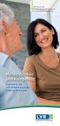 Menschlichkeit und Kompetenz; Psychiatrie und LVR ...