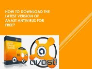 Avast Antivirus Support Set up and Scan PC!