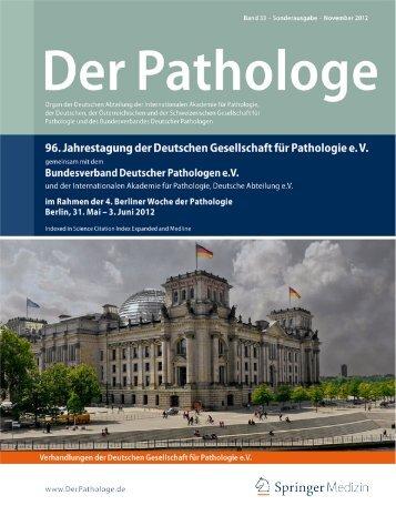 Der Pathologe - Deutsche Gesellschaft für Pathologie