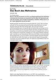 Psychiatrie - Das Buch des Wahnsinns -- sueddeutsche.de - Kvpm