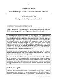 PSYCHIATRIE HEUTE - Arbeitsgemeinschaft Psychosoziale ...