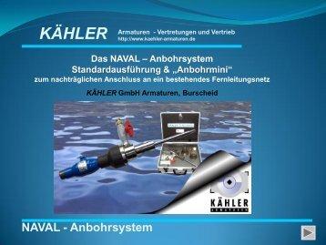 NAVAL Anbohrsystem - KÄHLER GmbH Armaturen