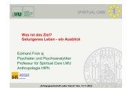 Eckhard Frick sj Psychiater und Psychoanalytiker Professur für ...