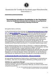 Vermarktung erfundener Krankheiten in der Psychiatrie - Kvpm