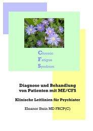 Diagnose und Behandlung von Patienten mit ME ... - ME/CFS Australia