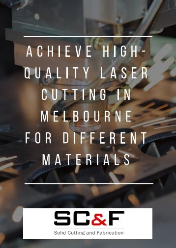 Laser Cutting Melbourne
