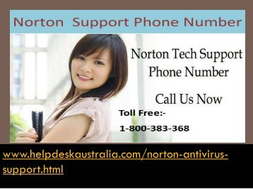 Complete Solution 1-800-383-368 Norton Antivirus Tech Support Helpline Australia