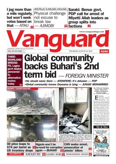 23082018 - Global community backs Buhari's 2nd term bid — FOREIGN MINISTER
