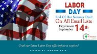 Thomson Data Reveals 2 Weeks Exciting Offer For Labor Day