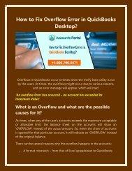 1800-796-0471: How to Fix Overflow Error in QuickBooks Desktop?