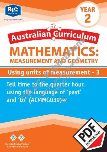 RIC-20140 ACM Measurement and Geometry (Yr 2) Using units of measurement 3