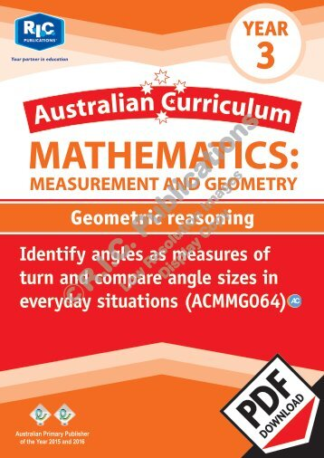 RIC-20153 ACM Measurement and Geometry (Yr 3) Geometric reasoning