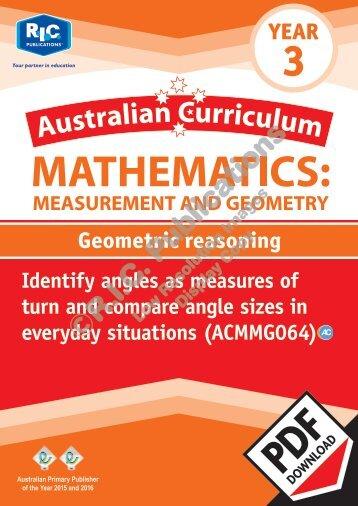 RIC-20153 ACM Measurement and Geometry (Yr 3) Geometric reasoning