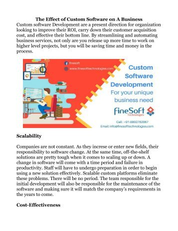 The Effect of Custom Software on A Business