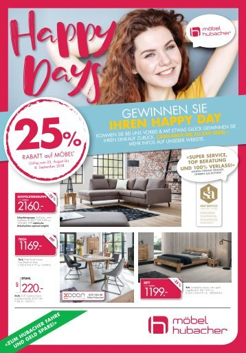 """Happy Days"" 25% Rabatt auf Möbel*"