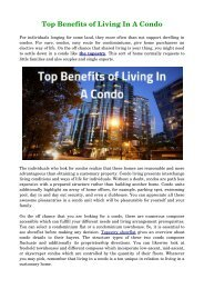 Top Benefits of Living In A Condo