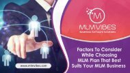 Factors To Consider While Choosing MLM Plan That Best Suits Your MLM Business