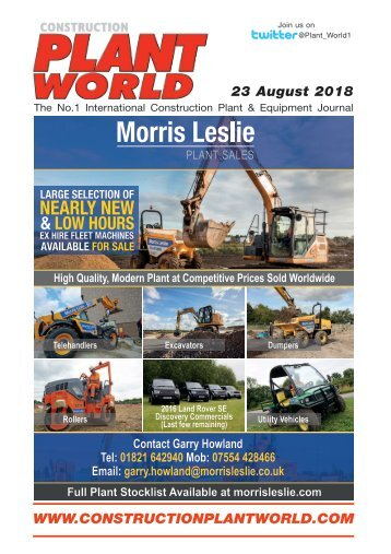 Construction Plant World - 23rd August 2018