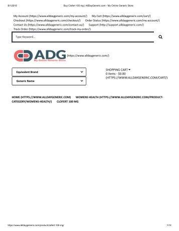 Buy Clofert 100 mg _ AllDayGeneric.com - My Online Generic Store