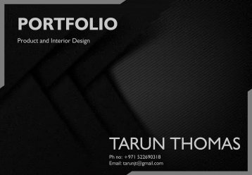 TarunJT - Portfolio 2018