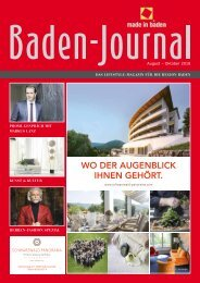 Baden-Journal August-Oktober 2018