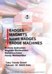 Buttons bedrucken Werbeartikel Katalog