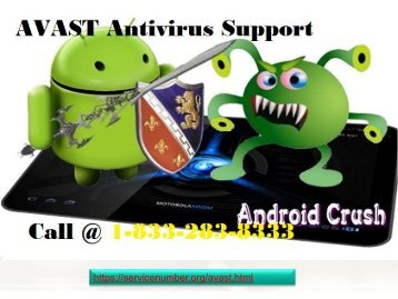 AVAST Antivirus Customer Service 1-833-283-8333 Number- For Data Recovery Issue