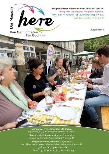 here – Das Magazin. Von Geflüchteten. Für Bochum – Ausgabe 06