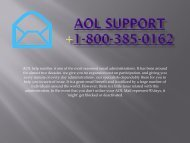 Aol Support Number- 1-800-385-0162  Customer Tollfree Service Support