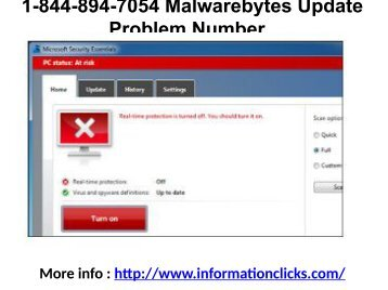 1-844-894-7054 Malwarebytes Update Problem Number