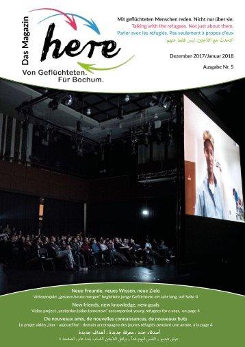 here – Das Magazin. Von Geflüchteten. Für Bochum – Ausgabe 5