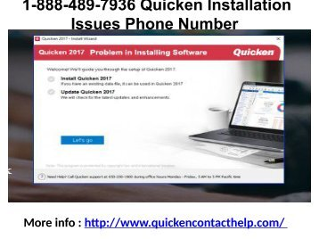 1-888-489-7936 Quicken Installation Issues Phone Number