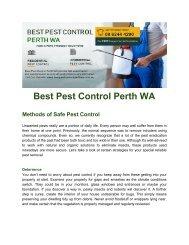 Best Pest Control Perth WA