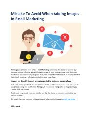 Mistakes to avoid when adding images in email marketing