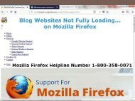 Websites not loading on Mozilla|Firefox Helpline 1-800-358-0071 Number