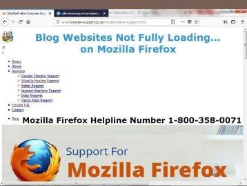 Websites not loading on Mozilla|Firefox Helpline 1-800-358-0071 Number