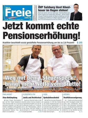 Jetzt kommt echte Pensionserhöhung!