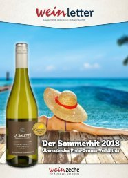 Weinzeche Weinletter 9_2018 – Die Kunst des Genießens