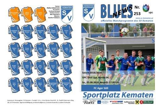 Blues News 253: SV Kematen vs. FC Ager Söll