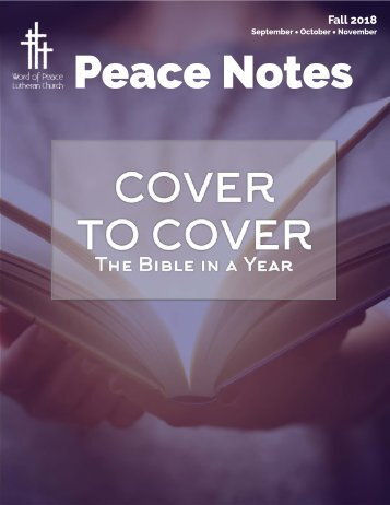Peace Notes Fall 2018-Word of Peace Lutheran Church