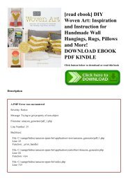 [read ebook] DIY Woven Art Inspiration and Instruction for Handmade Wall Hangings  Rugs  Pillows and More! DOWNLOAD EBOOK PDF KINDLE