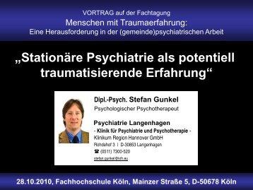 Stationäre Psychiatrie als potentiell traumatisierende Erfahrung