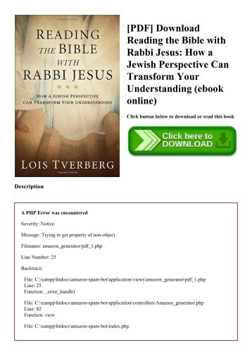 [PDF] Download Reading the Bible with Rabbi Jesus How a Jewish Perspective Can Transform Your Understanding (ebook online)