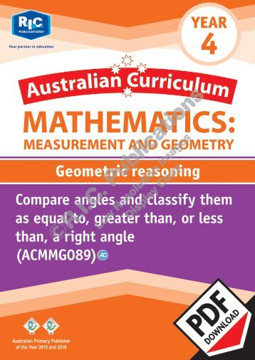 RIC-20162 ACM Measurement and Geometry (Yr 4) Geometric reasoning